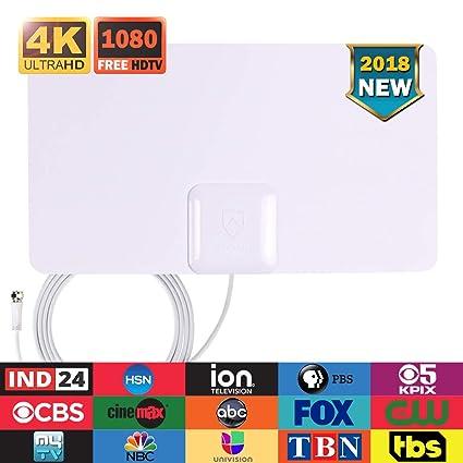 Amazon com: HDTV Antenna, ANTOP Indoor TV Antenna 360 Omni