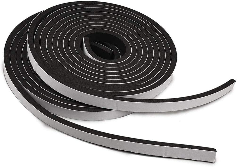 TamBee Weather Stripping Foam Tape 1/2 Inch Wide X 1/4 Inch Thick,High Density Foam Strip Self Adhesive Weatherstrip Insulation Foam Rubber Seal Strip 26 Ft(2 Rolls of 13 Ft Each)