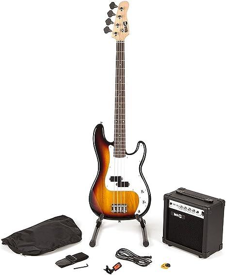 RockJam Super Kit de bajo de tamaño completo con amplificador de ...