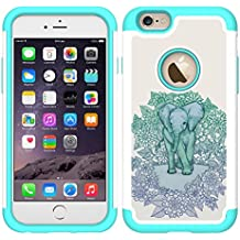 iPhone 6 Case, UrSpeedtekLive iPhone 6s Cases [Shock Absorption] Dual Layer Heavy Duty Protective Silicone Plastic Cover Case for iPhone 6/6s - Elephant