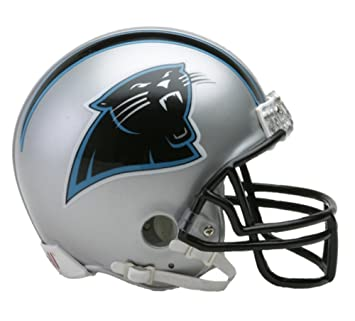 Riddell - Réplica a tamaño real de casco de los Carolina Panthers