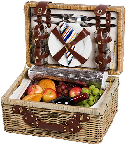 Willow Picnic Basket for 4 PB1-3757B by Picnic & Beyond