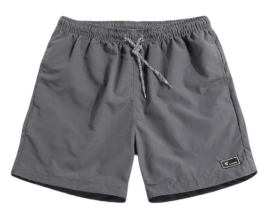 Joe Wenko Men Outdoor Sports Quick-Drying Plus Size Elastic Waist Shorts