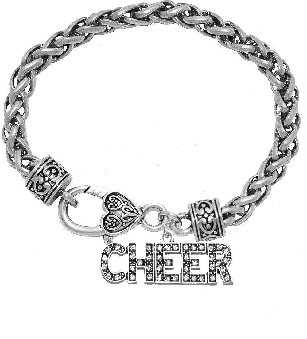 Nickel Lead /& Cadmium Free! Cheer Crystal Bracelet Safe-Hypoallergenic