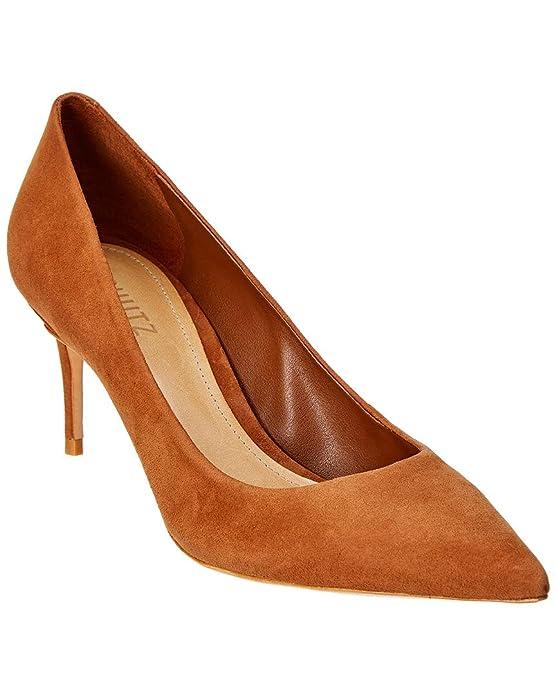 0ffd395339e84 Amazon.com: SCHUTZ Lola Suede Pump, 8, Brown: Shoes