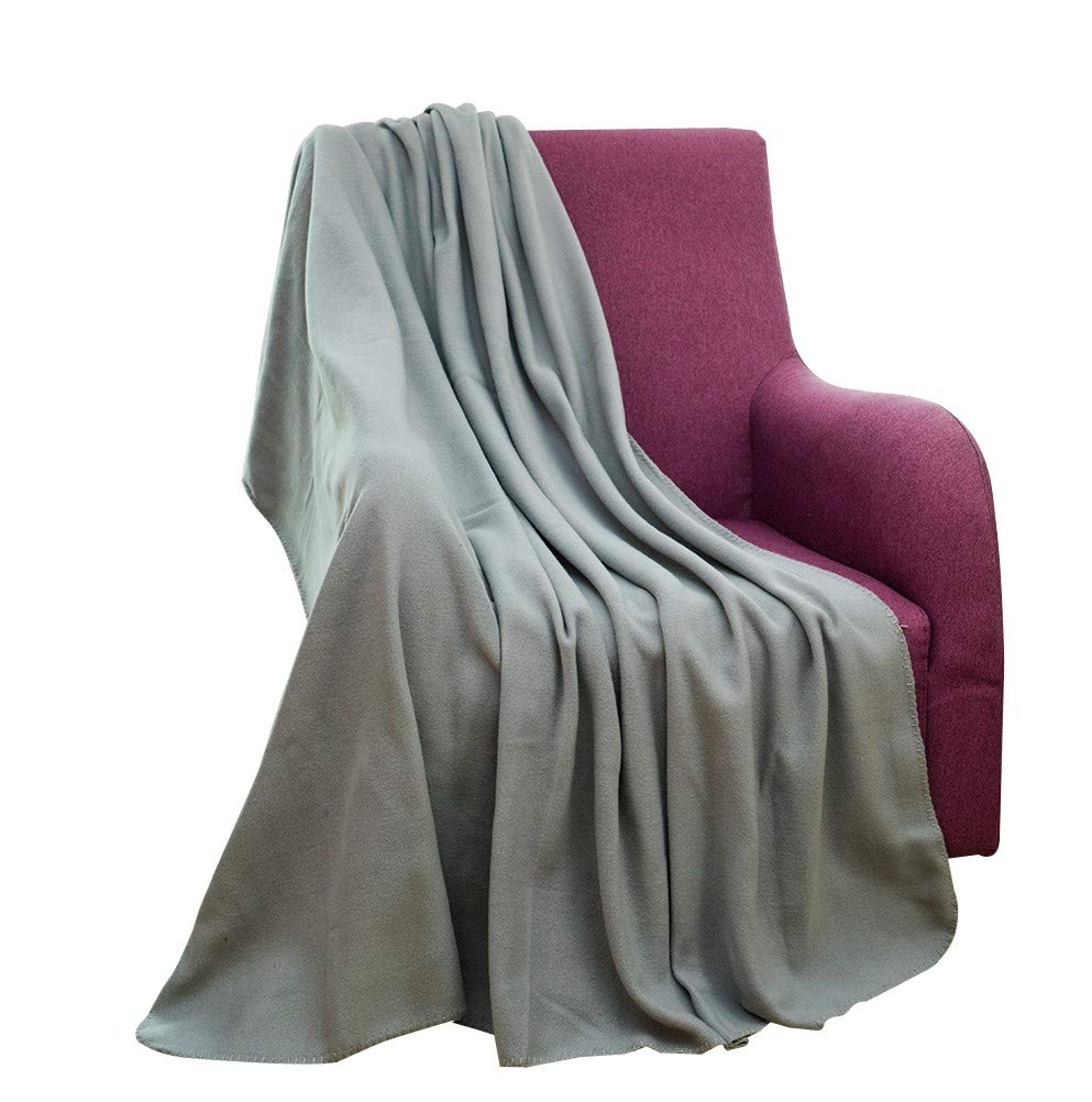 CAI TENG Fleece Blanket Super Soft Warm Cozy Blanket All Season Fleece Throw for Bed or Sofa, Easy Care (Grey, 52 x 67 Inches)
