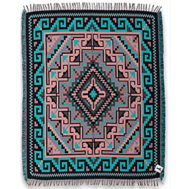 Beautiful Ultra Soft Throw Blankets in Native American & Southwest Styles. High Quality, Ultra Soft Reversible Acrylic. Measures 50  X 64  (Santa Fe Trail 2D)