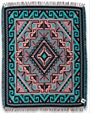 """Beautiful Ultra Soft Throw Blankets in Native American & Southwest Styles., Ultra Soft Reversible Acrylic. Measures 50"""" X 64"""" (Santa Fe Trail 2D)"""