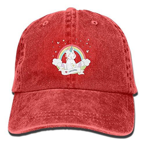 Buecoutes Rainbow Unicorn Vintage Cowboy Baseball Caps Trucker