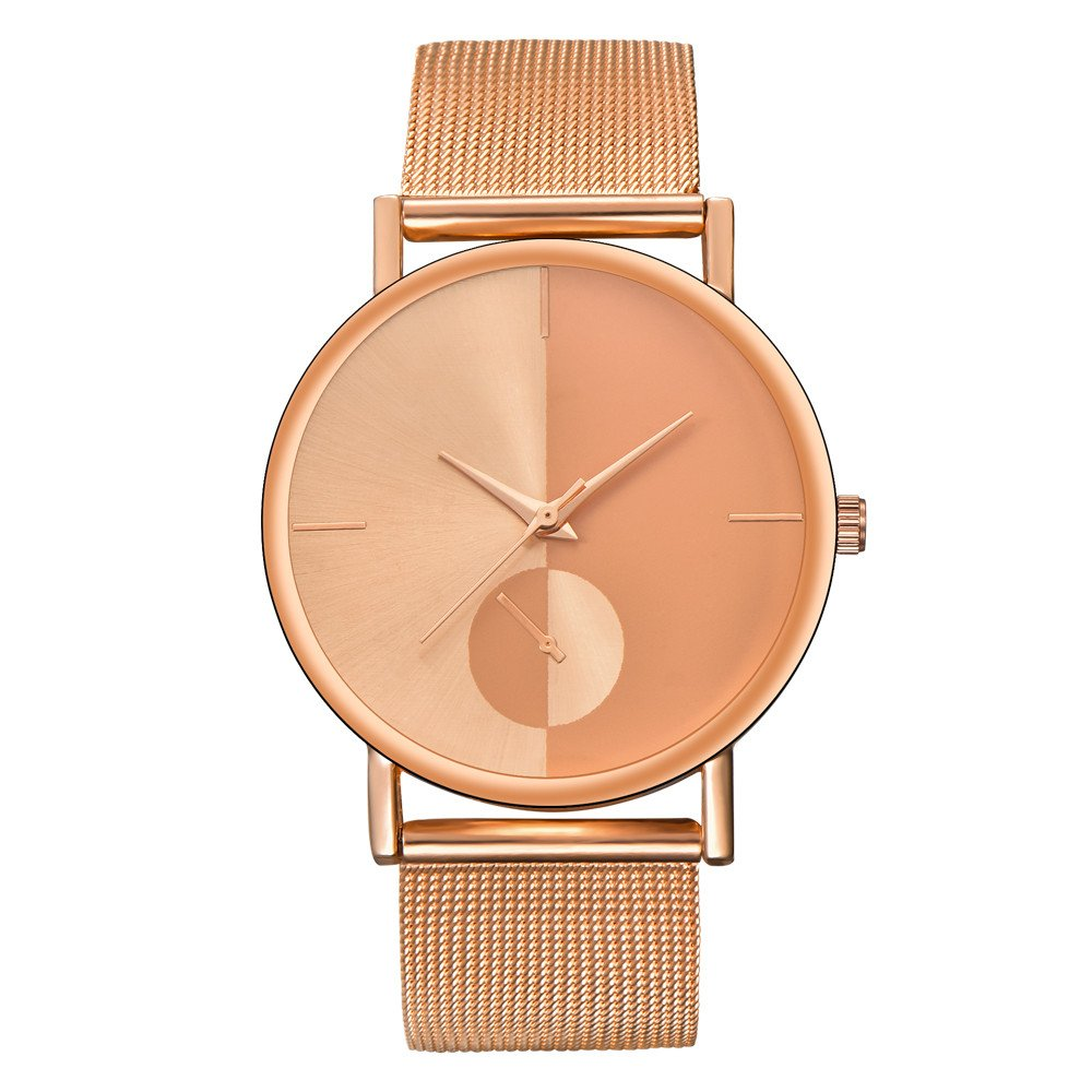 Womens Watches On Sale, VANSOON Teen Girls Wrist Watch Ladies Fashion Classic Gold Quartz Stainless Steel Watches Waterproof Classic Digital Pocket Watch Clearance
