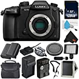 Panasonic Lumix DC-GH5 Mirrorless Micro Four Thirds Digital Camera (Body Only) + Battery for Panasonic DMW-BLF19 + 128GB Class 10 Memory Card Bundle