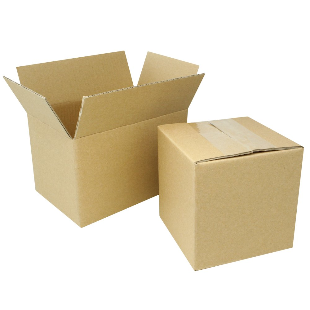 100 EcoSwift 8x6x4 Corrugated Cardboard Shipping Boxes Mailing Moving Packing Carton Box 8 x 6 x 4 inches