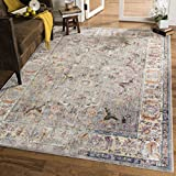 Cheap Safavieh Bristol Collection BTL362A Grey and Light Grey Vintage Oriental Distressed Area Rug (9′ x 12′)