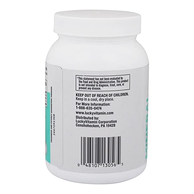LuckyVitamin - Magnesio 500 mg. - 100 cápsulas: Amazon.es: Salud y cuidado personal