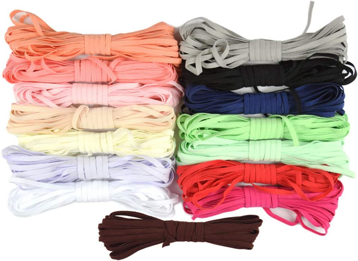 5 Yard 4mm Knitting Solid Skinny Elastics Spandex Satin Band Hairband Headband Tie Dress Lace Trim DIY Sewing Antique White