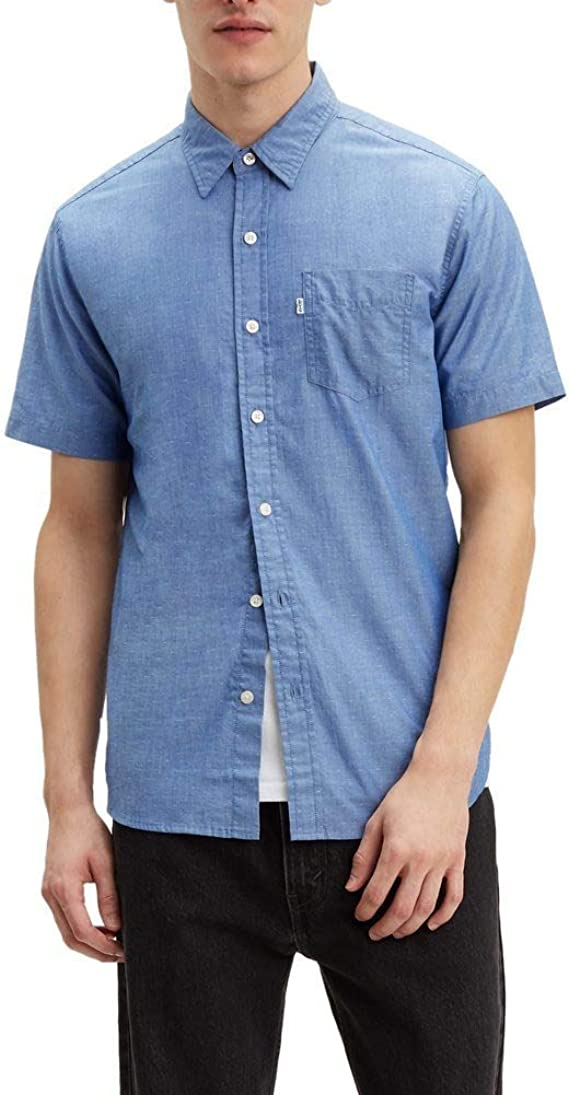 Levis SS Classic One Pocket Holloway True Camisa Manga Corta Hombre Azul S (Small): Amazon.es: Ropa y accesorios