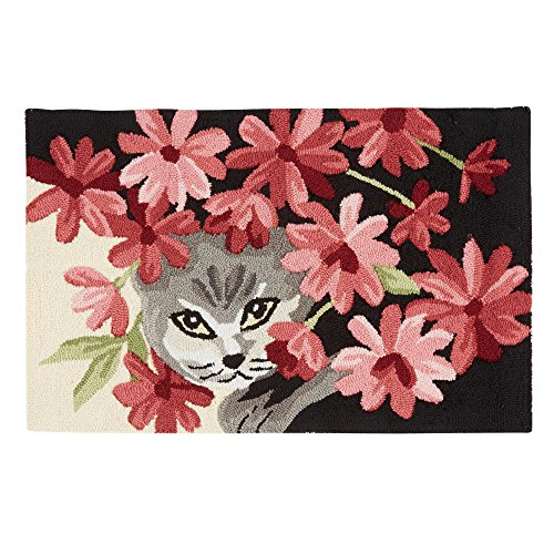 Nourison Flower Cat Hand-Hooked Oversized Accent Area Rug