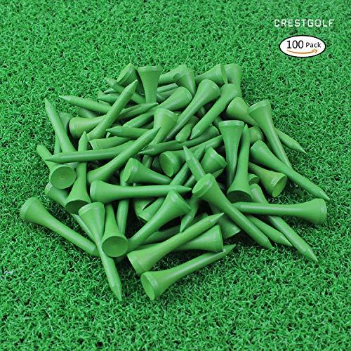 (Crestgolf Golf Tee 1-5/8 inch Deluxe Tee Pack of 100 (green))