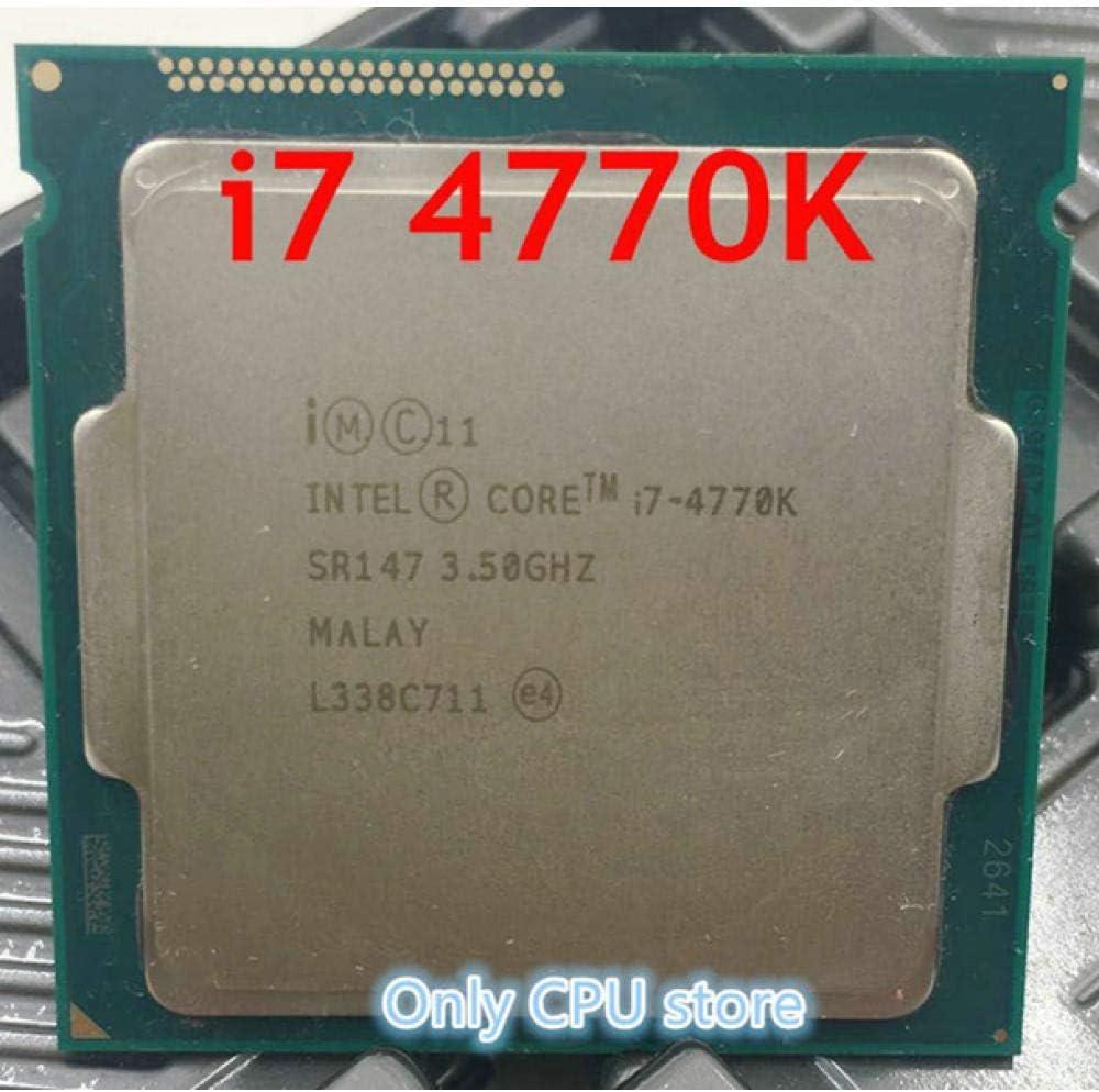 Original Processor Intel I7 4770K Quad Core 3.5GHz LGA 1150 TDP 84W 8MB Cache with HD Graphics 4600 Desktop CPU