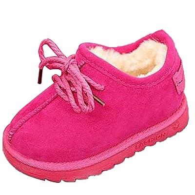 b040906cf2d6f Hzjundasi Hiver Bébé Chaussures Enfants Garçon Fille Antidérapant Cuir  Imperméable Première Marche Casual Chaussure 1-6 An