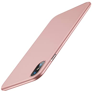 6714af47dfd504 TORRAS iPhone X Case, iPhone XS Case, Ultra Thin Slim Case with [Tempered  Glass Screen Protector], ...