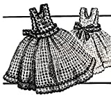 Vintage Crochet PATTERN to make - Pinafore Dress Dishcloth Liquid Soap Bottle Cover. NOT a finished item. This is a pattern and/or instructions to make the item only.