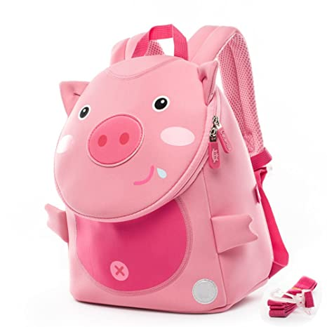 Cocomilo Kids Backpack Waterproof Animal-Themed Baby School Bag with Safety  Anti-Lost Leash by - Pink Pig  Amazon.in  Bags 1d64ec18ab1d2