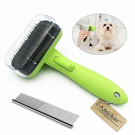 Cepillo para mascotas Andiker para perros y gatos, cepillo para ...