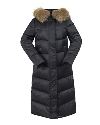UAISI Women Long Hooded Goose Down Coat Ladies Winter Windproof ...