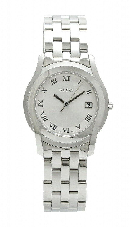 [グッチ] GUCCI シルバー文字盤 デイト メンズ QZ クォーツ 腕時計 5500M B07D64NV6M