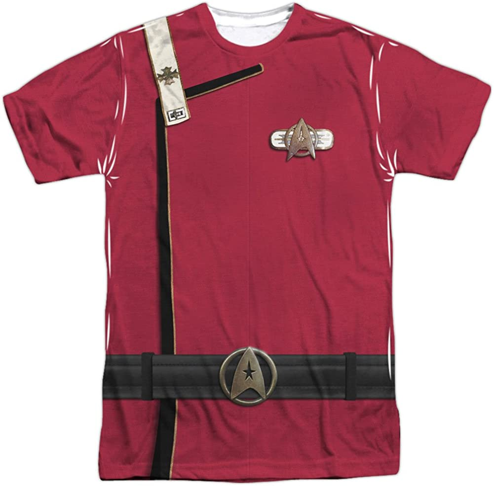 Star Trek Men's Admiral Kirk Uniform Sublimation T-Shirt White