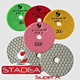 7 polishing pad for granite - Stadea DPPD04SPRA503K7P Dry Diamond Polishing Pads for Concrete Polishing, 7-Piece