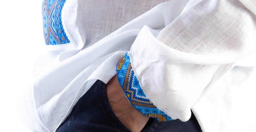 playera de lino para hombre con bordado de Vyshyvanka ucraniana ...