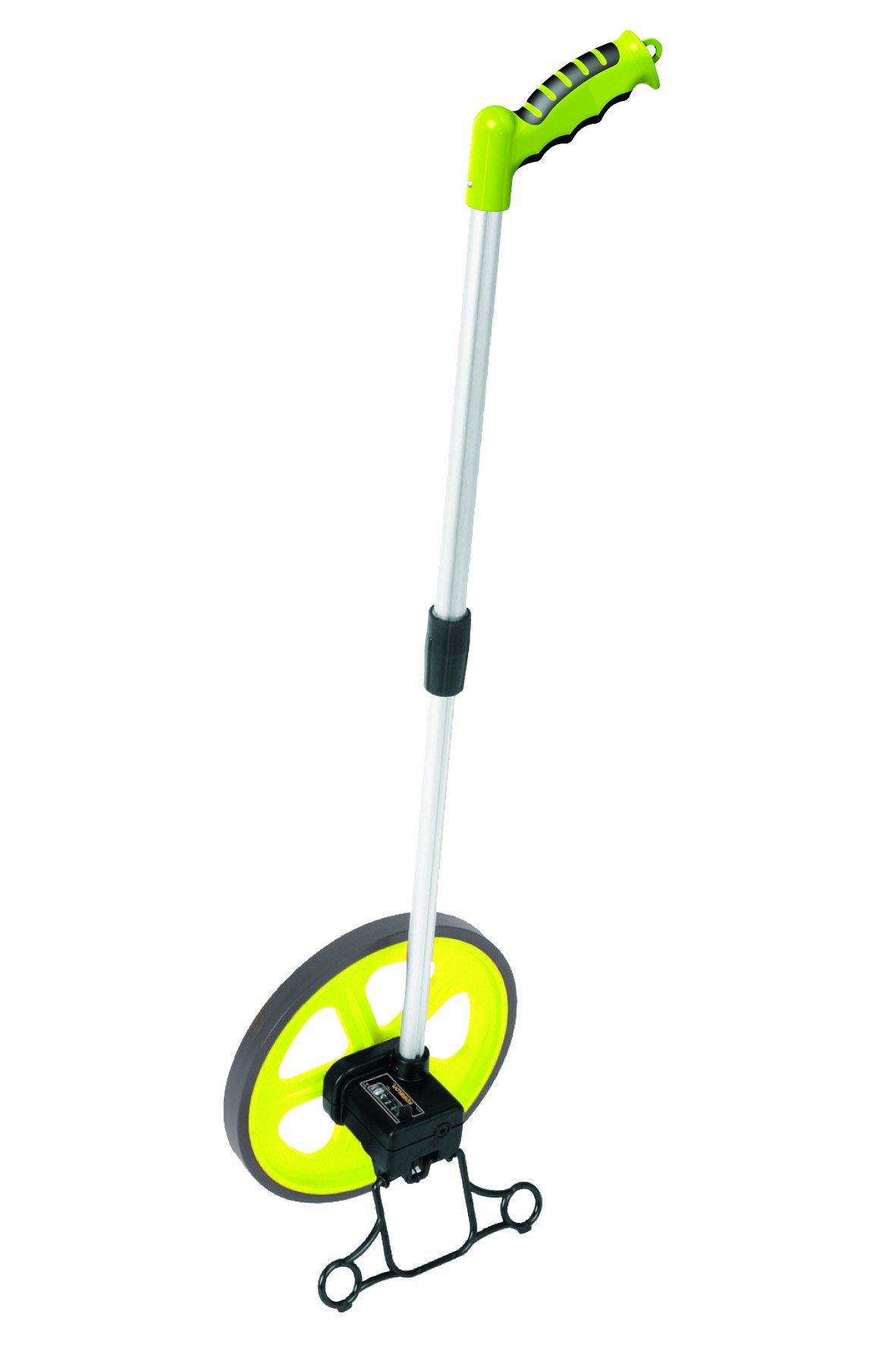 Mutual 17701 W31 Series Komelon Mechanical Measuring Wheel with Kickstand, 10'' Diameter, Feet/Inches
