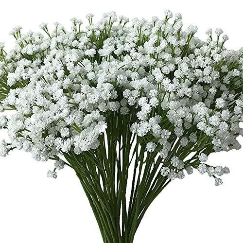 - Aisamco 2 Pack Artificial Baby's Breath 14 Forks, Fake Baby's Breath Bulk Flower Bush Artificial Gypsophila in White 15.7