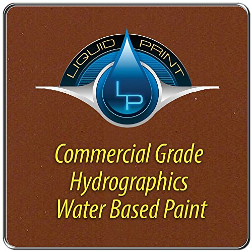 Medium Brown Hydrographics Paint - 1 Quart - Water Based - Liquid Print Hydrographics Paint Supplies by Liquid Print