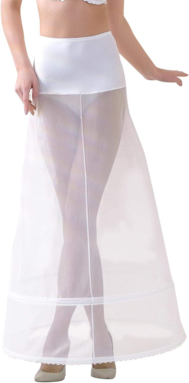Lacey Bell Femme Jupon Maxi Elegante Elastique Taille pour Robe de Mariee P7-270