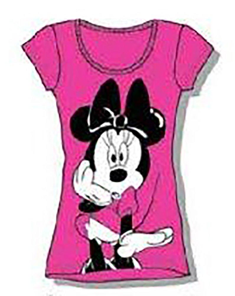- Disney Classic Minnie femmes Pajama T Shirt Top - rose noir blanc