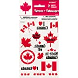 Canada Day Tattoo Sheets, 2ct