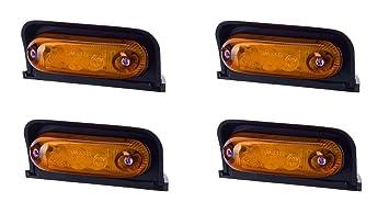 4 x 4 SMD LED Orange Begrenzungsleuchte Umrissleuchte 12V 24V mit E-Pr/üfzeichen Positionsleuchte Auto LKW PKW KFZ Lampe Leuchte Licht Gelb Universal