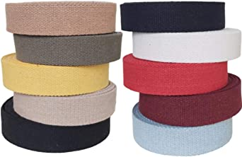 MATADOR USEFUL GOODS Straps for Arts and Crafts - Black, 10 Yards Heavy Cotton Webbing 1 Inch