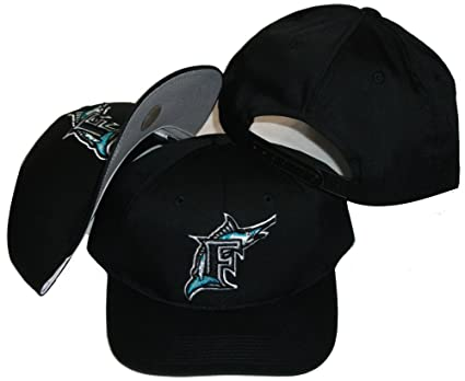 Image Unavailable. Image not available for. Color  Florida Marlins Vintage  Retro Black Plastic Snapback ... 2f2112ece869