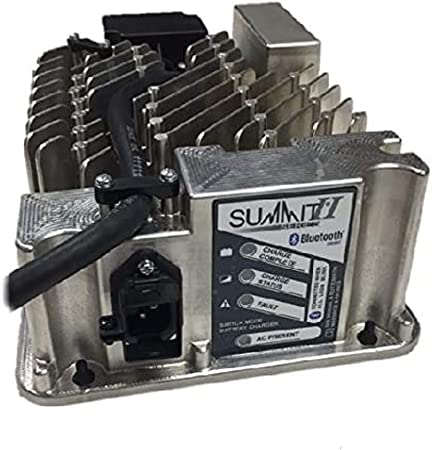 Lester Summit Series II Battery Charger 650W 36/48V with E-Z-GO TXT 36V PowerWise 2-Pin Plug with 8.5 Ft. DC Cord Summit Serie