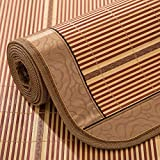 Zzaini Double sided Ice silk mat, Carbonized bamboo Summer sleeping mat Cooling Single bed Folding Straw mat-A 90x190cm(35x75inch)