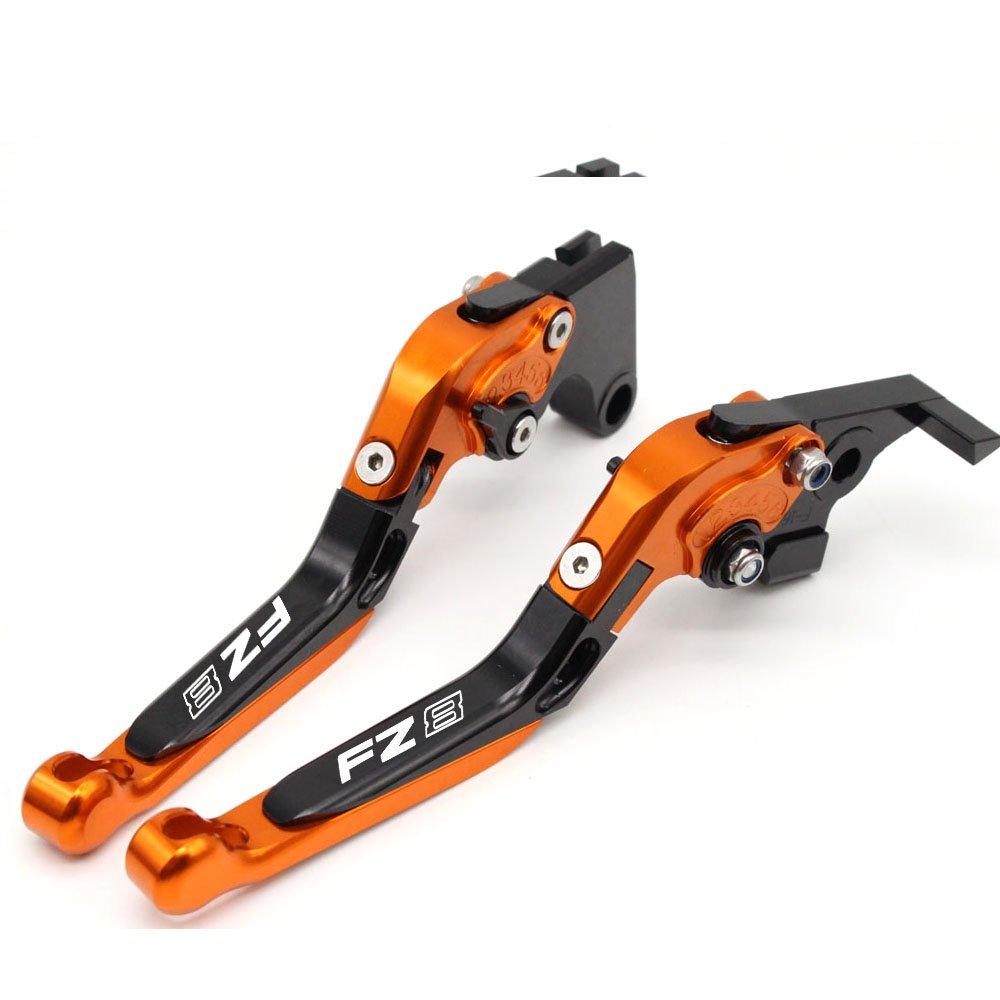 Leviers de frein et dembrayages extensibles en aluminium usin/é CNC pour Yamaha FZ8/2011-2015 Accessoires de moto
