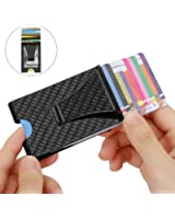 Carbon fiber money clip cl carbonlife business card holder rfid money clip totobay double sided slim wallet rfid blocking carbon fiber money clip for colourmoves Image collections
