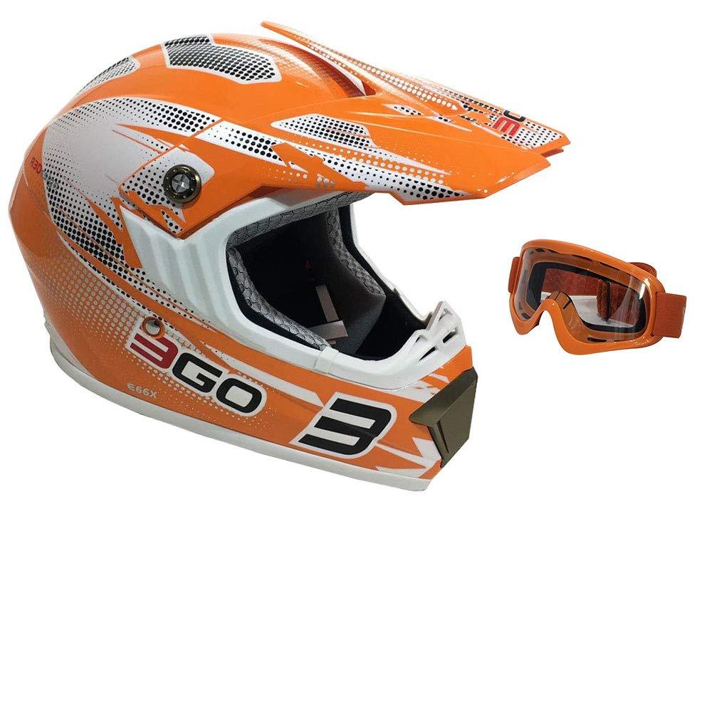 3GO E66X Casque de moto homologu/é pour adultes