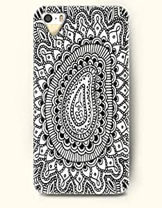 SevenArc Apple iPhone 5 5S Case Paisley Pattern ( Black and White Zentangle of Paisley )