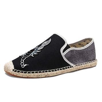 Zapatillas sin Cordones Transpirables Ocasionales sin Cordones para Hombre (Color : Negro, tamaño : EU 40): Amazon.es: Hogar