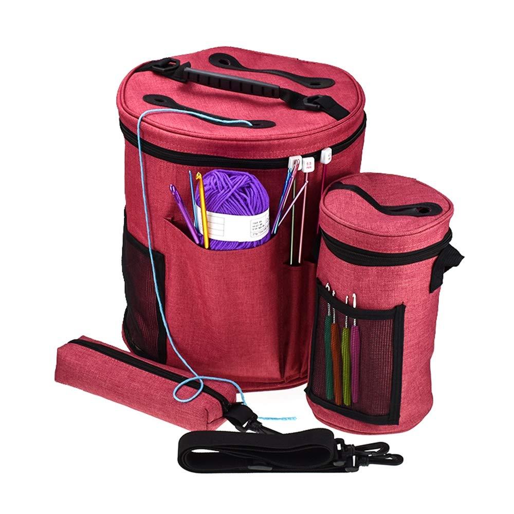 Bolsa de tejer, bolsa de almacenamiento de hilo para tejer ...